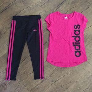 Toddler Girl Adidas Set Black/Pink